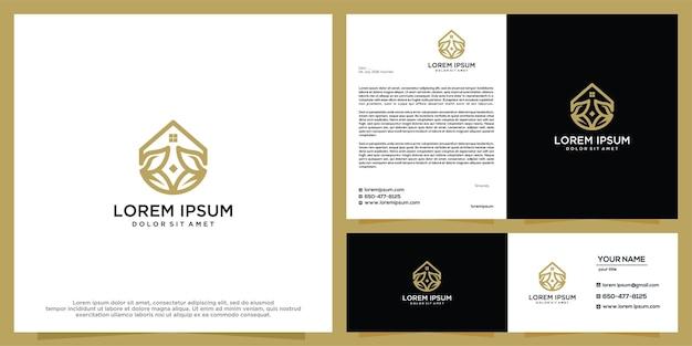Modelo de vetor de design de logotipo para casa