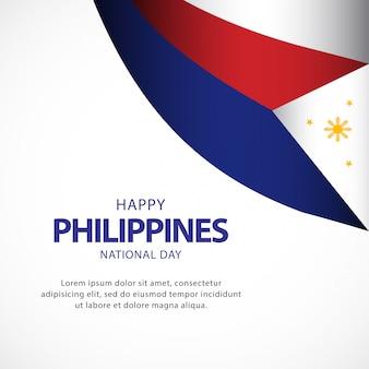 Modelo de vetor de dia da independência de filipinas