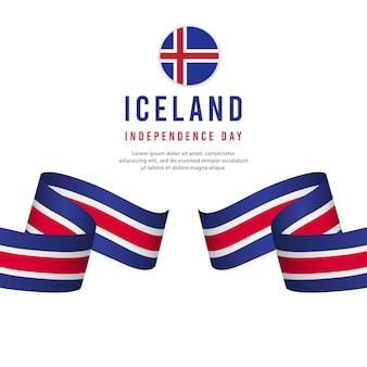 Modelo de vetor de dia da independência de islândia.