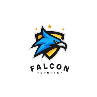 Modelo de vetor de esportes de cabeça de águia