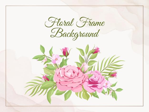 Modelo de vetor de flora de fundo de banner de casamento
