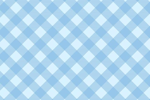 Modelo de vetor de fundo de padrão tartan azul sem costura