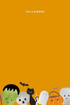 Modelo de vetor de fundo fofo de halloween