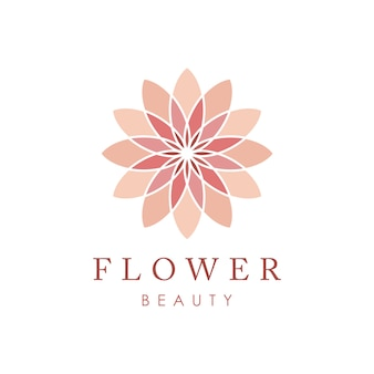 Modelo de vetor de ícone de logotipo de flor