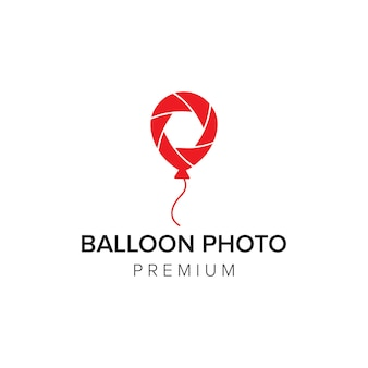 Modelo de vetor de ícone de logotipo de foto de balão