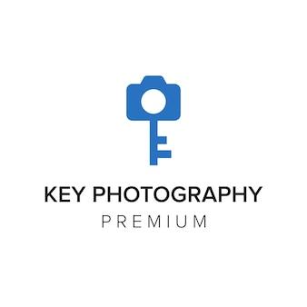 Modelo de vetor de ícone de logotipo de fotografia chave