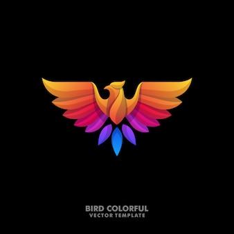 Modelo de vetor de ilustração de desenhos coloridos de águia
