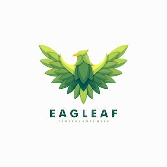 Modelo de vetor de ilustração de folhas de águia
