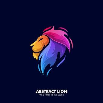 Modelo de vetor de ilustração de leão