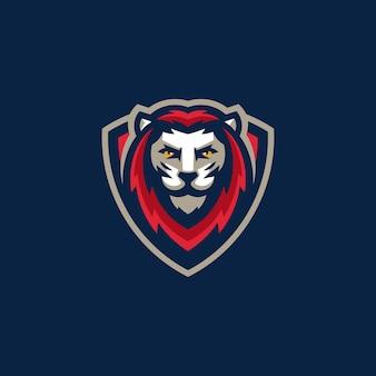 Modelo de vetor de ilustração do esporte leão equipe gaming