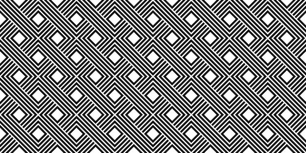 Modelo de vetor de listra preto e branco mínimo vintage padrão sem emenda