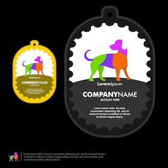 Modelo de vetor de logotipo de cão