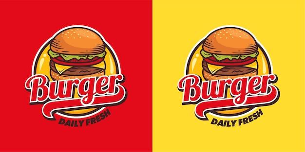 Modelo de vetor de logotipo de hambúrguer