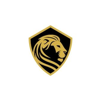 Modelo de vetor de logotipo de leão