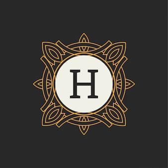 Modelo de vetor de logotipo de luxo para restaurante