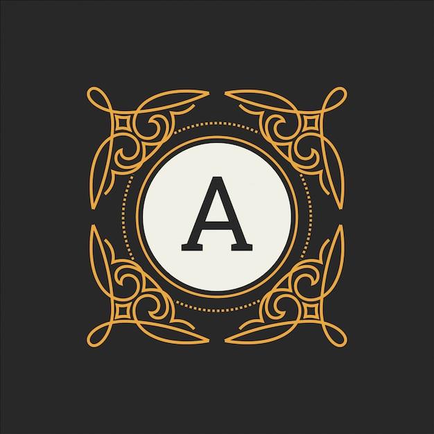 Modelo de vetor de logotipo de luxo