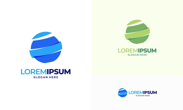 Modelo de vetor de logotipo de tecnologia global do mundo moderno, símbolo da internet, conceito de ícone de logotipo do planeta