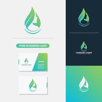 Modelo de vetor de logotipo e cartão de visita
