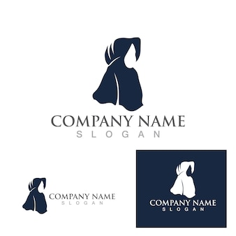 Modelo de vetor de logotipo hijab mulheres muçulmanas