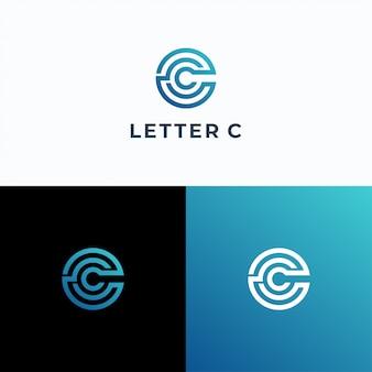 Modelo de vetor de logotipo letra c