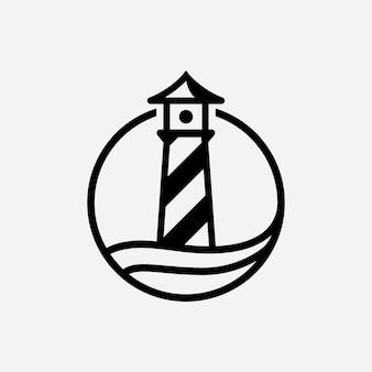 Modelo de vetor de logotipo light house