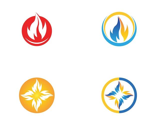 Modelo de vetor de logotipo natureza fogo e gás