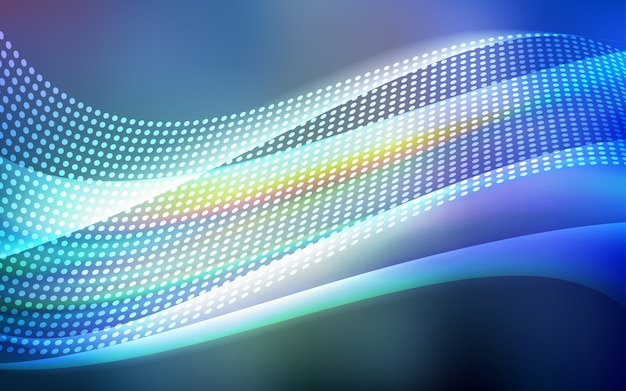 Modelo de vetor de luz azul com círculos, triângulos.