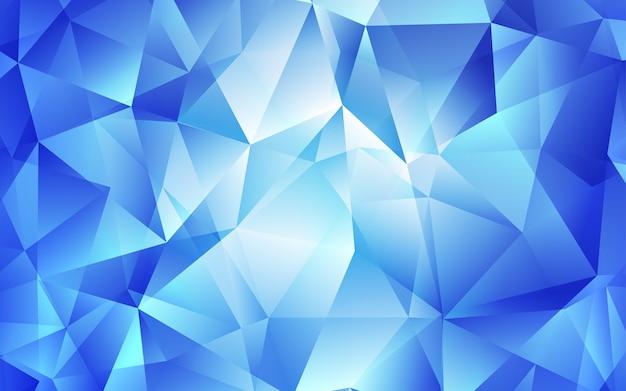 Modelo de vetor de luz azul com cristais, triângulos.