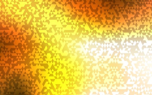 Modelo de vetor de luz laranja com cristais, triângulos.