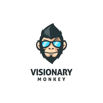 Modelo de vetor de mascote de macaco