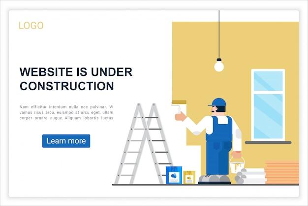 Modelo de vetor de página de destino da web de erro de conexão