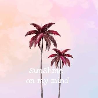 Modelo de vetor de palmeira estética para postagem em mídia social