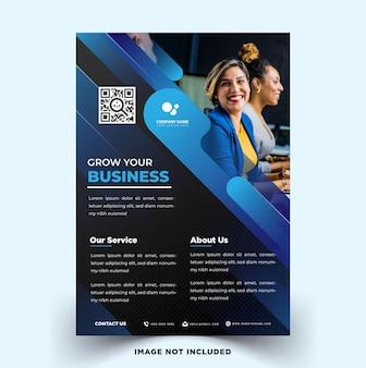 Modelo de vetor de panfleto de negócios moderno e elegante