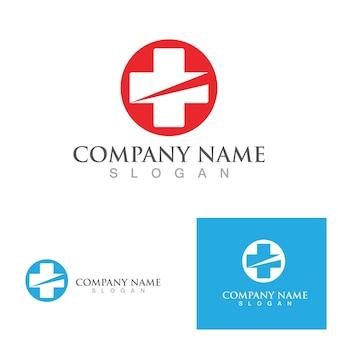 Modelo de vetor de símbolo de logotipo de hospital