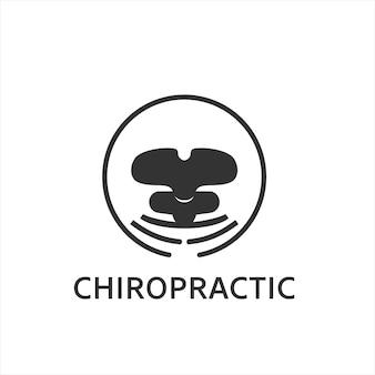 Modelo de vetor de terapia de logotipo de quiropraxia para médicos