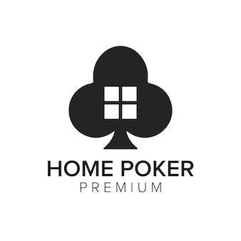 Modelo de vetor do ícone do logotipo do home poker