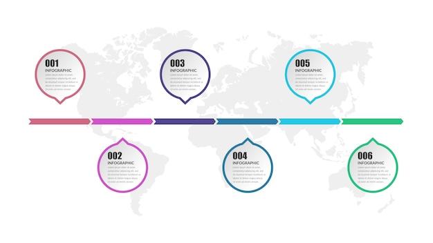 Modelo de vetor infográfico marketing de negócios com números