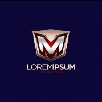 Modelo de vetor letra m logotipo design