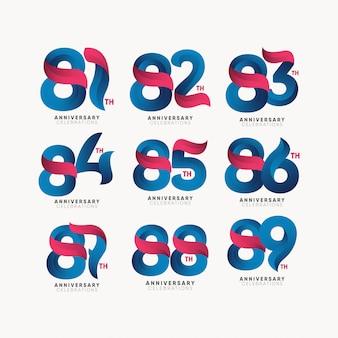 Modelo de vetor logotipo de aniversário. design para sua festa. design para publicidade, cartaz, banner ou impressão.