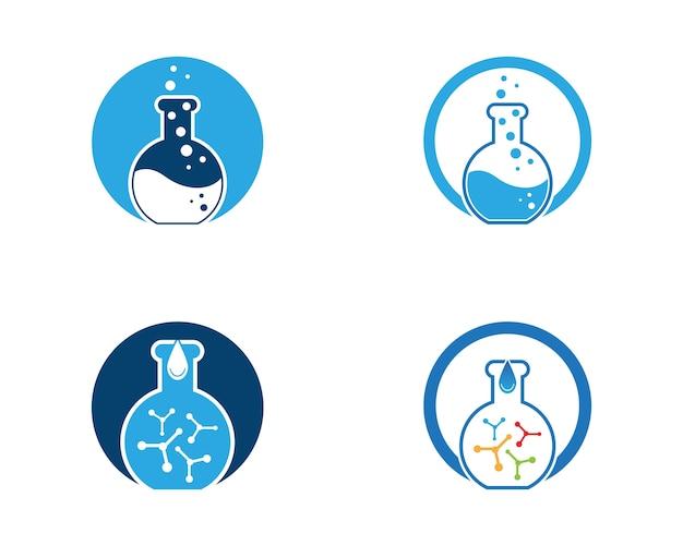 Modelo de vetor logotipo de laboratório