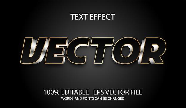 Modelo de vetor moderno de efeito de texto editável