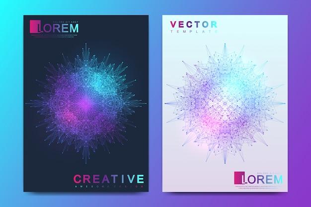 Modelo de vetor moderno para brochura, folheto, panfleto, capa, banner, catálogo, revista, relatório anual.