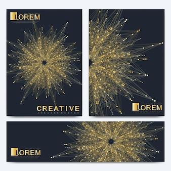 Modelo de vetor moderno para brochura