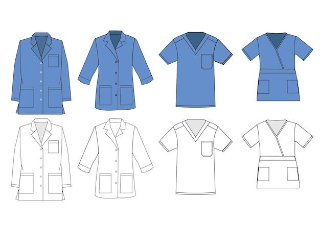 Modelo de vetor uniforme de camisa médica