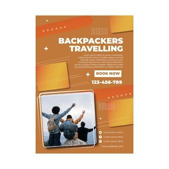 Modelo de viagem para mochileiros