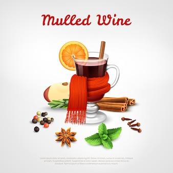 Modelo de vinho quente