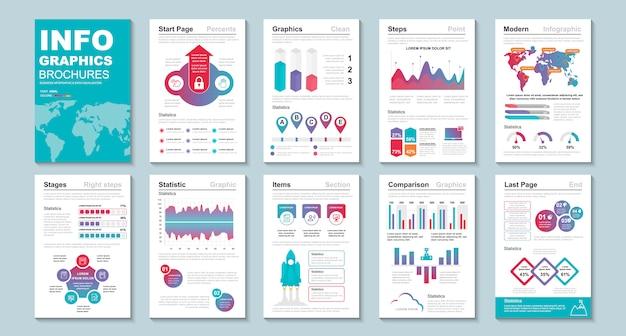 Modelo de visualização de dados de brochura infográfico.