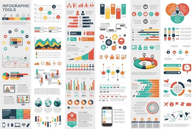 Modelo de visualização de dados de elementos infográficos