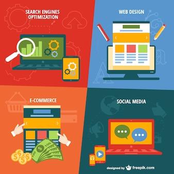 Modelo de web apps móveis vetor