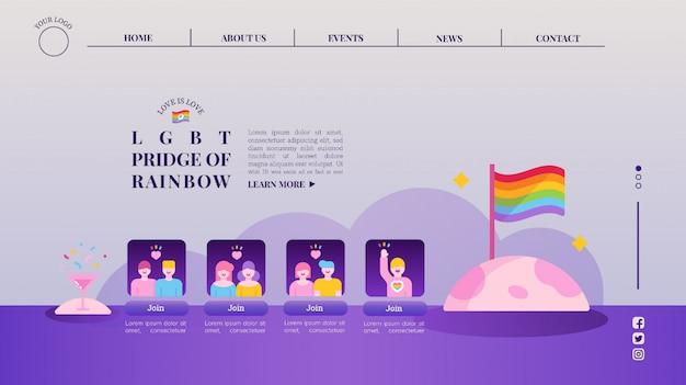 Modelo de web da campanha lgbtq